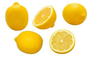 grupp gula citroner foto