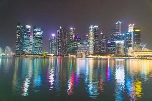 skyskrapa byggnader i singapore city foto