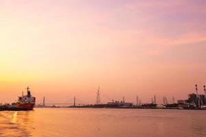 solnedgång i bangkok