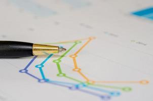 diagram och penna