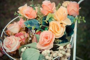 bukett rosor