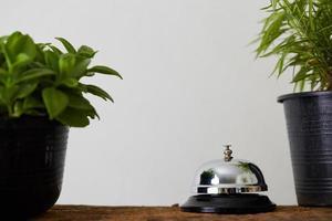 serviceklocka och växter