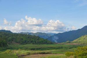 skogstäckta berg i Thailand foto