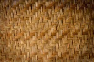 vävd bambu för konsistens eller bakgrund foto