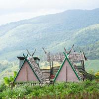 stugor på en gård i Thailand foto