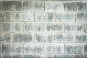 närbild av grå tegelvägg för textur eller bakgrund foto