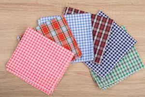 servetter isolerad på vit bakgrund foto