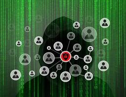 ung hacker som arbetar hårt med att lösa lösenordskoder online foto