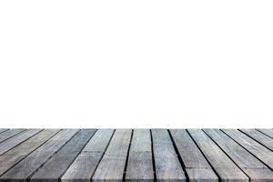 trä bordsskiva med vit bakgrund för visning foto