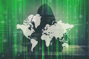 abstrakt grön teknik binär bakgrund foto