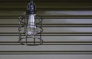 industriell utomhuslampa foto