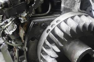 gammal rostig motor