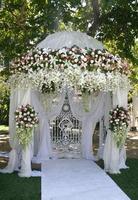 bröllopstältpaviljong foto