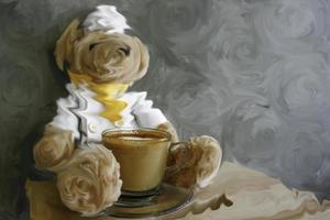 björn och kaffe foto