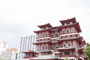 buddha tand relikktempel i chinatown singapore foto