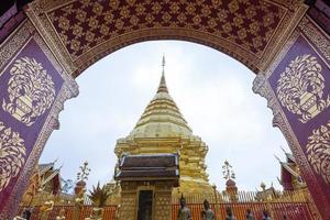 phra som doi suthep-templet i Thailand foto