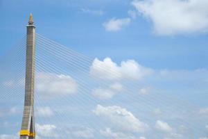 rama viii bridge i bangkok foto