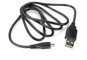 svart USB-laddare foto