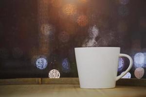 kaffe på bokeh foto