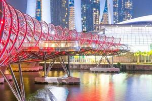 helix bridge i singapore foto