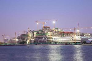 konstruktionskran i bangkok, thailand