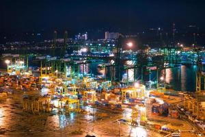 sjöfartshamn i Singapore foto