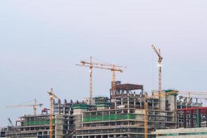 konstruktionskranar i bangkok, thailand