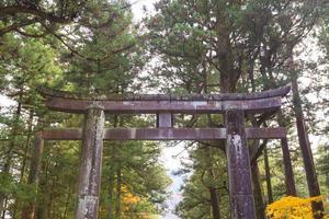 stenport vid toshogu-helgedomen i Japan foto