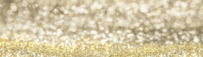 glitter bokeh banner