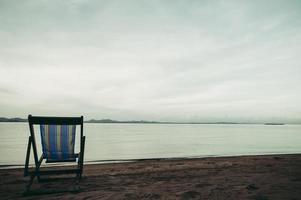hav med strandstolar foto
