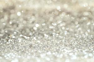 silver glitter bokeh foto