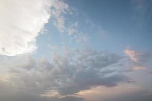 molnig blå himmel