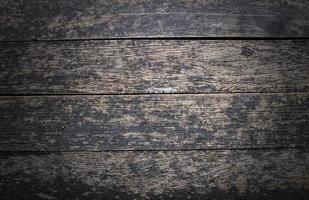 grunge och vintage gammal mörk trä bakgrund foto