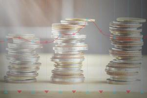 mynt med graföverlägg foto