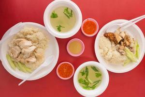 kyckling och ris måltid foto