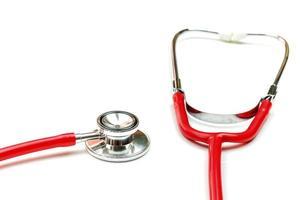stetoskop isolerad på vit bakgrund foto