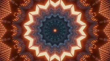 färgglada ljus och former kalejdoskop 3d illustration för bakgrund eller tapet