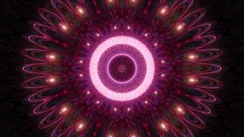 färgglada ljus och former kalejdoskop 3d illustration för bakgrund eller tapet foto