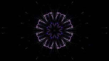 blått, lila och vitt ljus och former kalejdoskop 3d illustration för bakgrund eller tapet foto