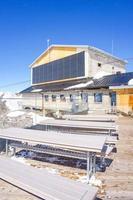 birg station i de schweiziska alperna i murren foto