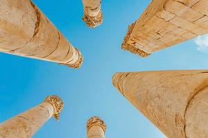 ruiner i Jerash, Jordanien foto