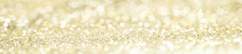 banner av guld bokeh glitter foto