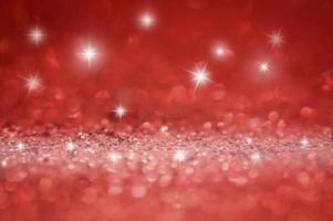 röd glitter bokeh foto