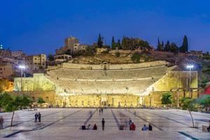 romersk teater i amman. Jordanien, 2018