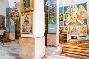 grekiska ortodoxa basilikan i St George i Madaba Jordanien, 2018 foto