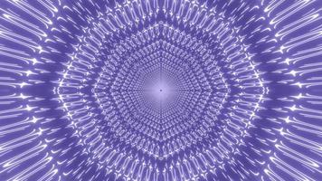 blått och vitt ljus och former kalejdoskop 3d illustration för bakgrund eller tapet foto