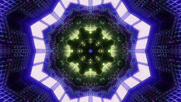 färgglada former och design kalejdoskop 3d illustration för bakgrund eller tapet foto