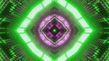 grönt, lila och vitt ljus och former kalejdoskop 3d illustration för bakgrund eller tapet foto