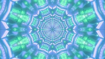 färgglada kalejdoskop 3d illustration design för bakgrund eller tapet foto
