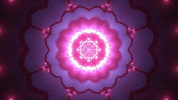 blomma form 3d illustration kalejdoskop design för bakgrund eller tapet